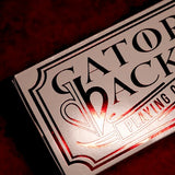 Red Metallic Gatorbacks Playing Cards