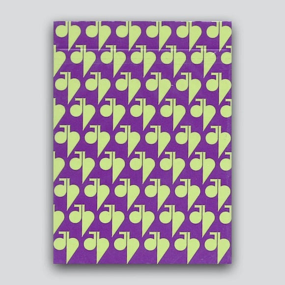 Jaspas Eggplant Playing Cards