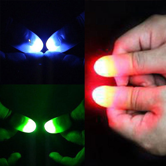Light Up Thumb Tip Multi-colored (Pack of 2)