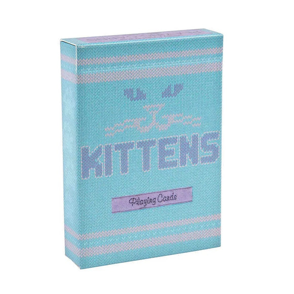 Kittens Blue Playing Cards