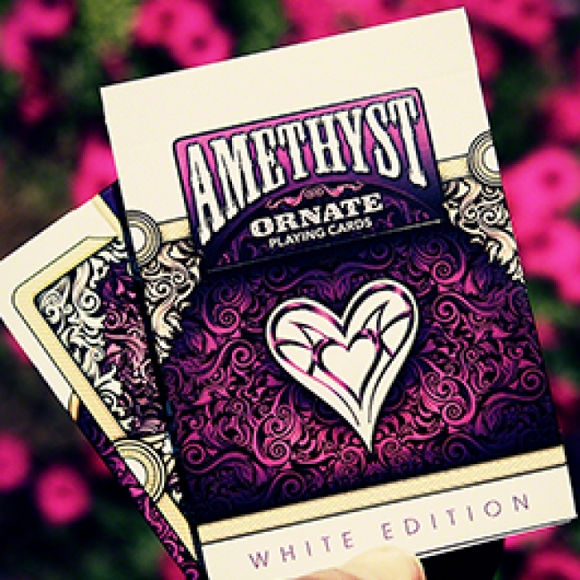 Amethyst Ornate (PURPLE) White Edition Deck