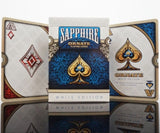 Ornate White Edition Sapphire Blue Deck