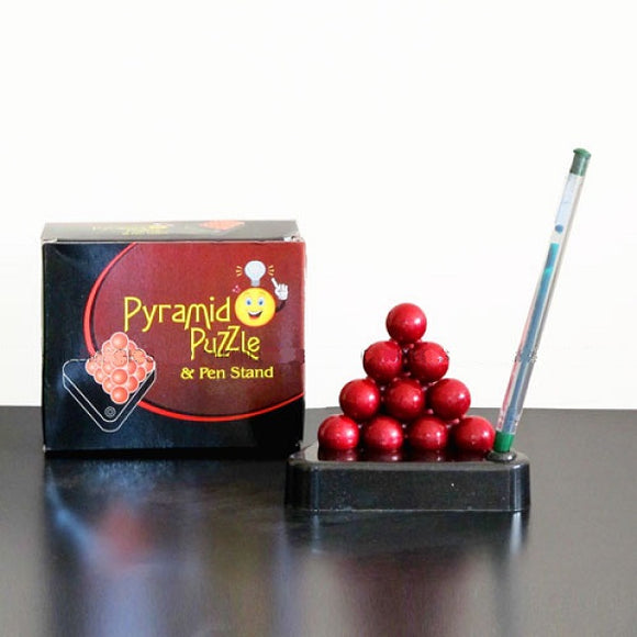 Ball Pyramid Puzzle w/ Pen Stand