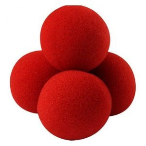 Set of 4 Super Soft Classical (4.5cm) Sponge Balls - RED