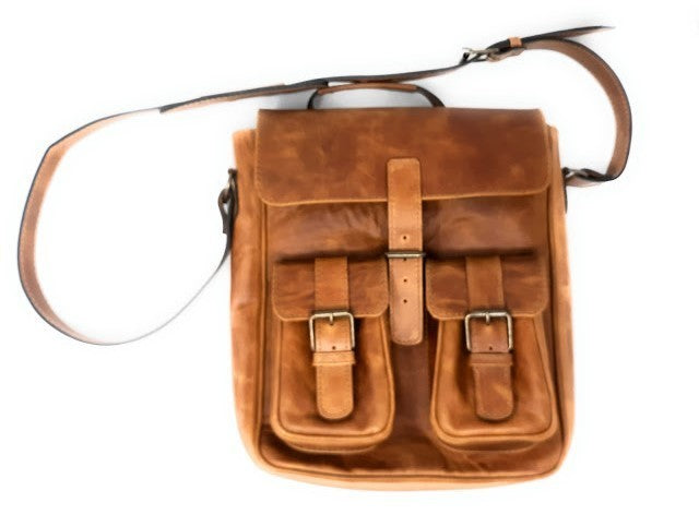 Handmade Leather Vertical Briefcase