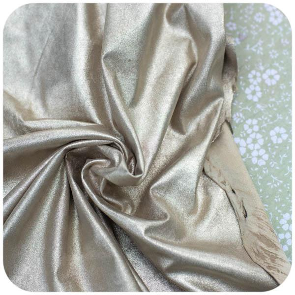 LEATHER-Champagne Glitter Metallic Lambskin- 1 hide - Measure: a fabric parlor