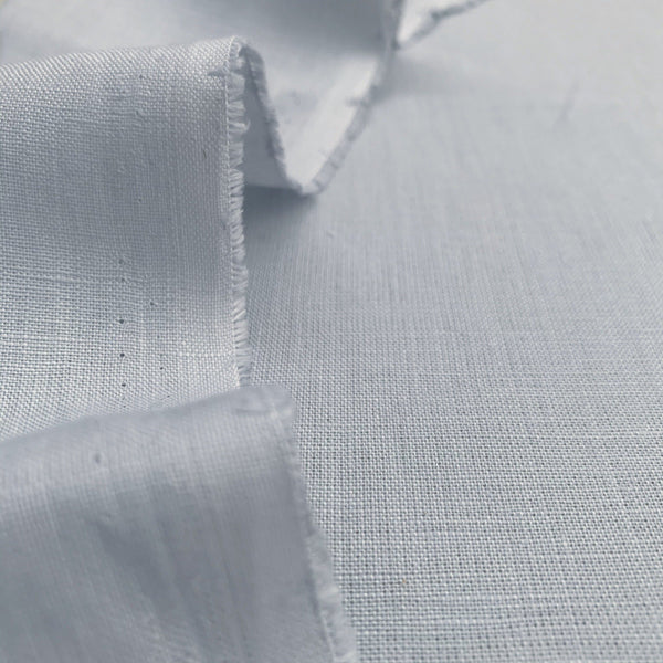 Dusty Blue Medium-Weight Linen- 1/2 yard - Measure: a fabric parlor