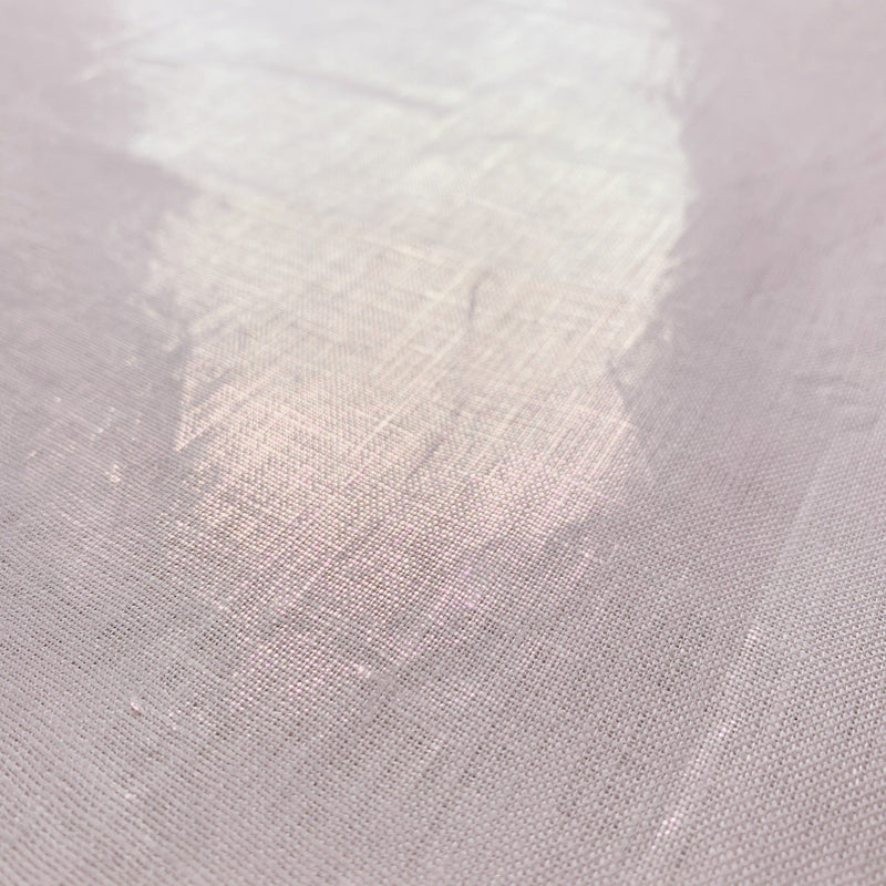 Metallic Pink Woven Linen when the sun hits the fabric with glimmer