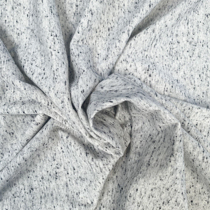 Linen Rayon Speckled Jersey Knit - 1/2 Yard - Measure: a fabric parlor