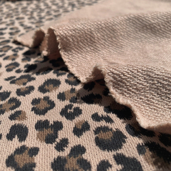 Leopard French Terry Knit- 1/2 yard