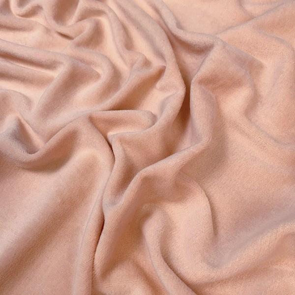 Dusty Coral Stretch Midweight Velour - 1/2 Yard - Measure: a fabric parlor