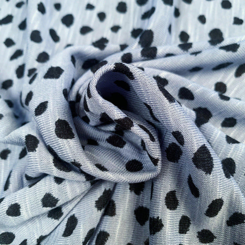 Cheetah Speckle Rayon and Linen Knit - 1/2 Yard - Measure: a fabric parlor