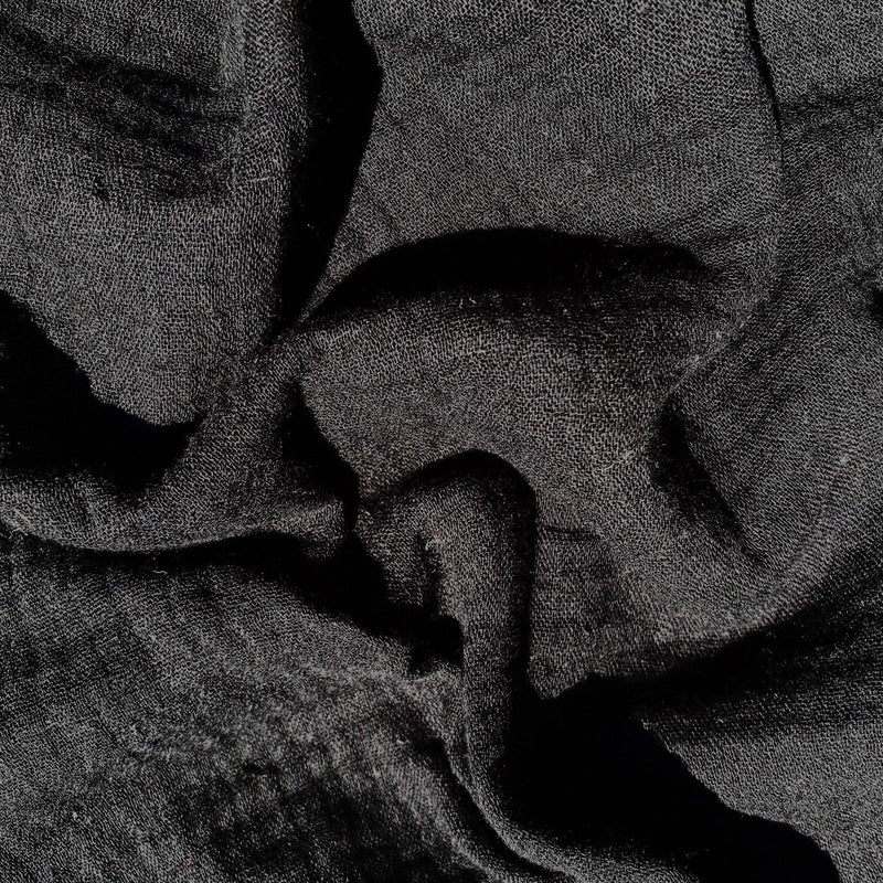 Black Double Gauze Cotton Fabric