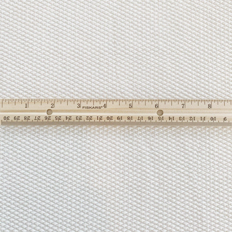 White Stretch Bonded Knit Pique - 1/2 Yard - Measure: a fabric parlor