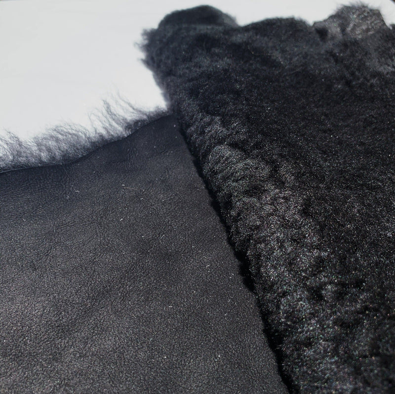 Black on Black Lamb Shearling- 1 hide