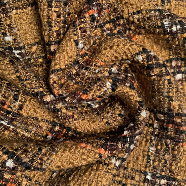 Italian Tweed twirl and close up to show texture