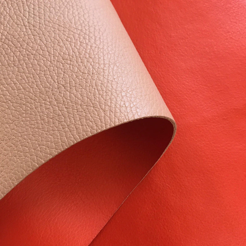 Reversible Pebble Cowhides - Orange & Tan- 1 SQFT - Measure: a fabric parlor