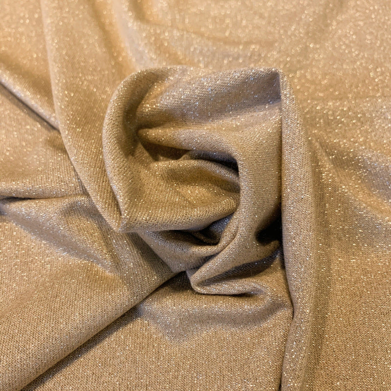 Metallic Gold on Gold Ottoman Knit- 1/2 yard - Measure: a fabric parlor