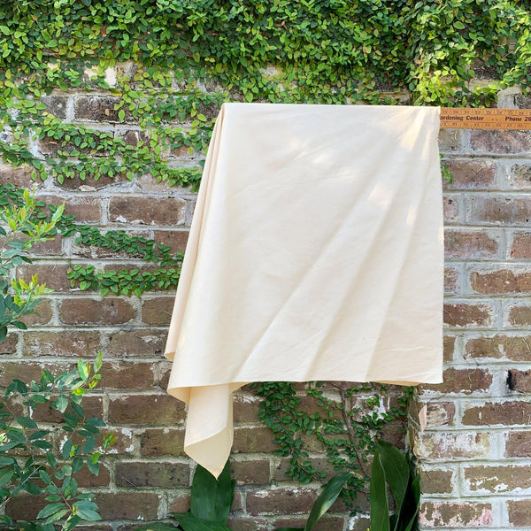 Cream Cotton Sateen - 1/2 Yard