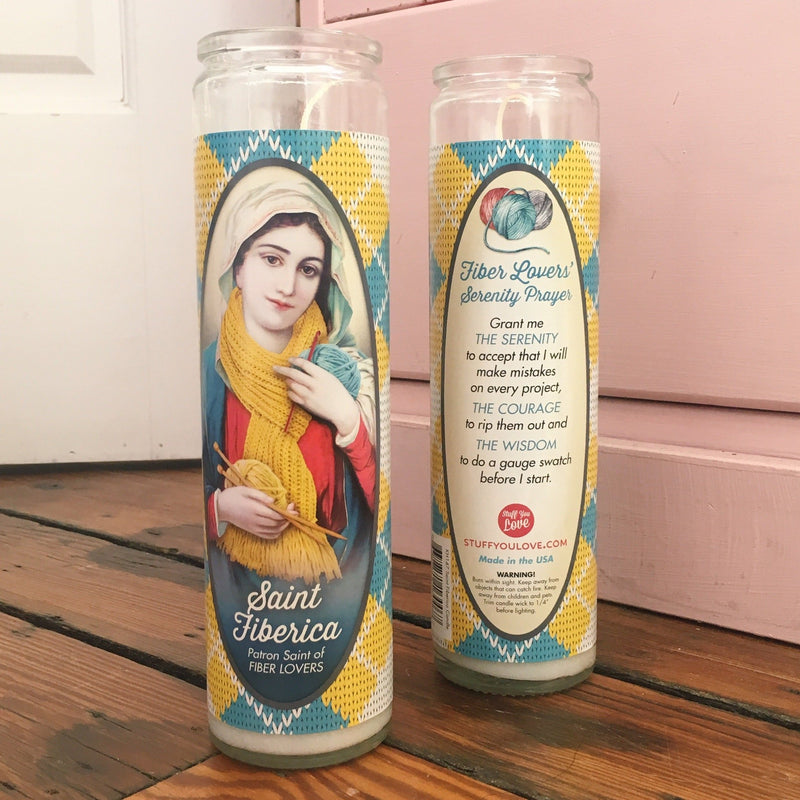 Saint Fiberica Prayer Candle - 1 Candle - Measure: a fabric parlor