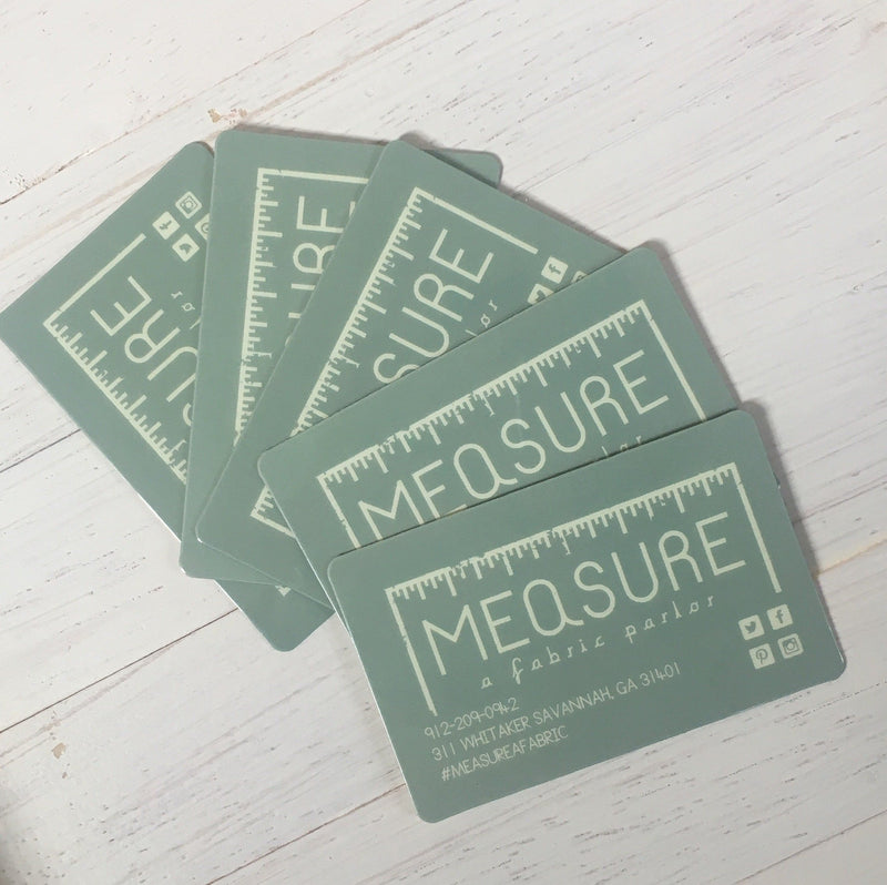 Measure Fabric Gift Card - Measure: a fabric parlor