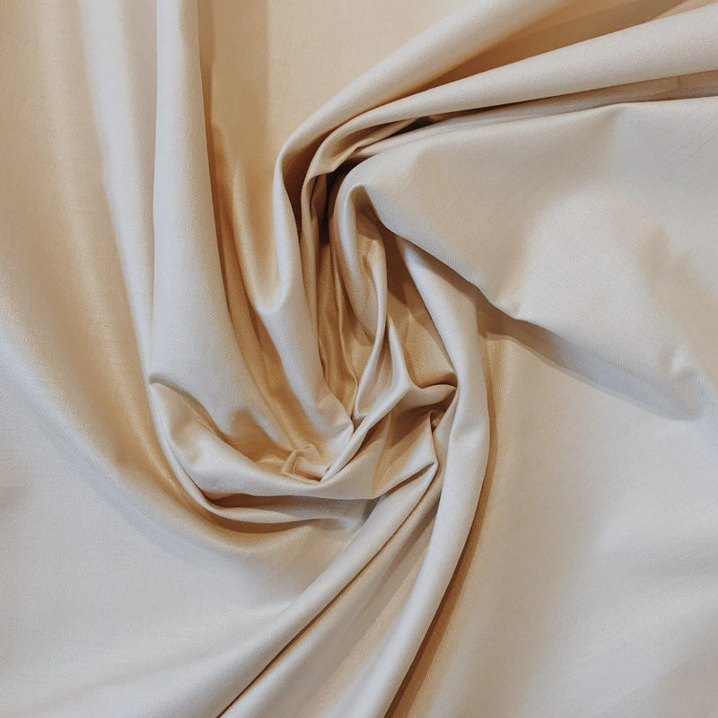 Cream Cotton Sateen - 1/2 Yard - Measure: a fabric parlor