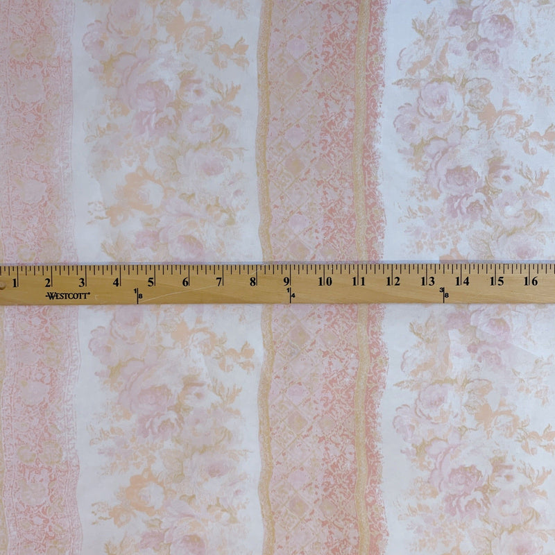 Satin Faced Antique-look Striped Organza- 1/2 yard - Measure: a fabric parlor