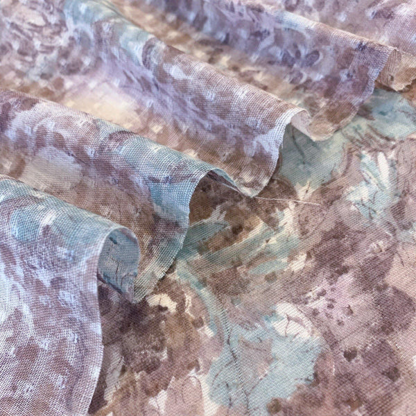 Painterly Floral Swiss Dot Cotton - 1/2 Yard - Measure: a fabric parlor