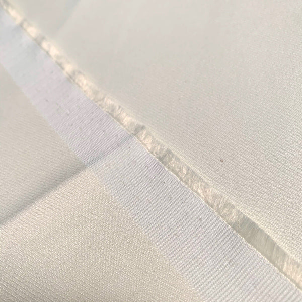 Cream Stretch Cotton Blend Twill-1/2 yard - Measure: a fabric parlor