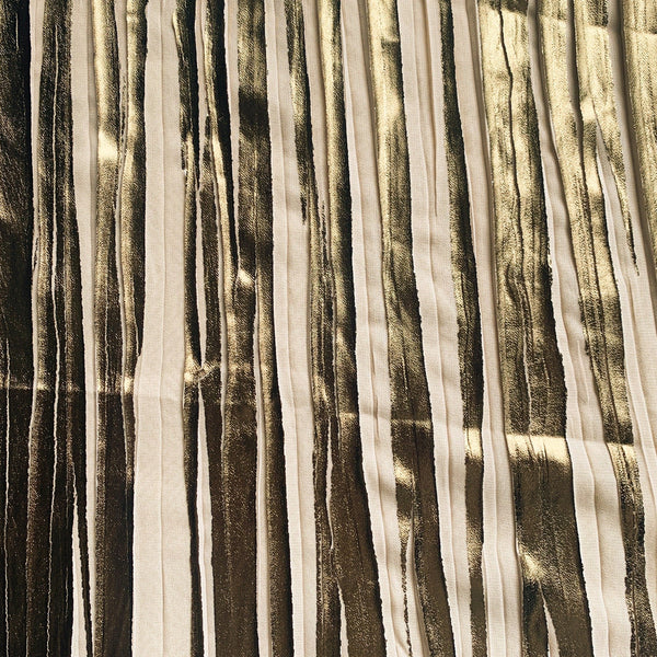 Metallic Foiled Crinkle Chiffon- 1/2 yard
