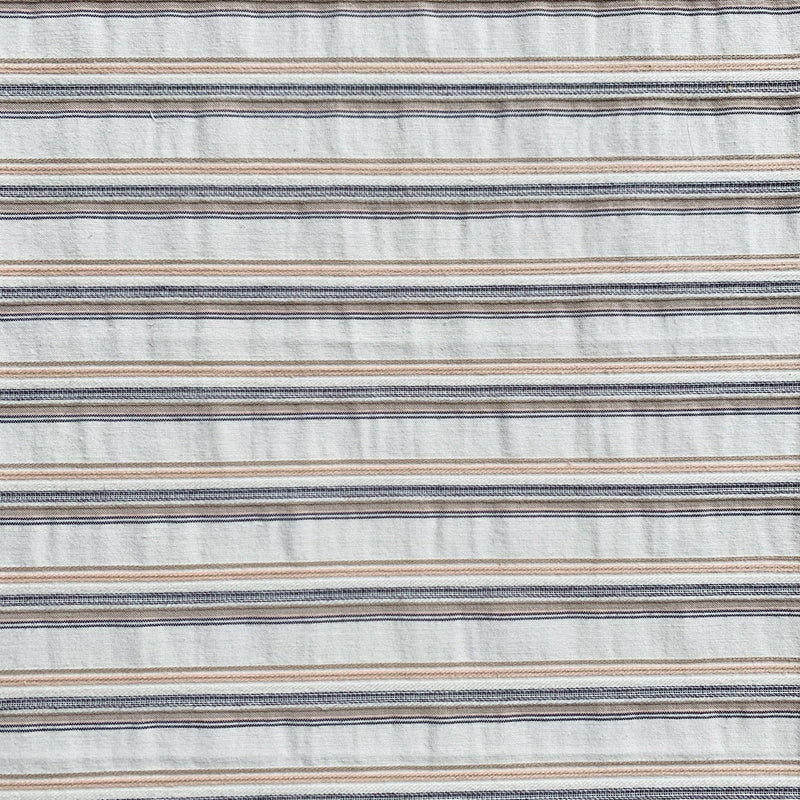 Italian Pastel Yarn-Dyed Striped Shirting- 1/2 yard