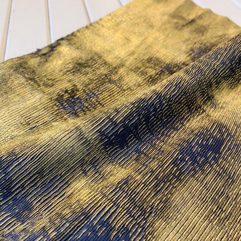 Ribbed Scales Distressed Metallic Cowhide - Remnants - Measure: a fabric parlor