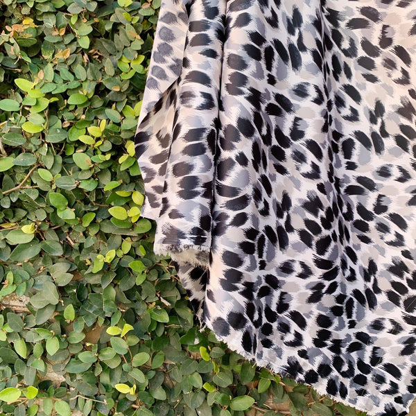 Satin Faced Brush Stroke Leopard - 1/2 Yard - Measure: a fabric parlor