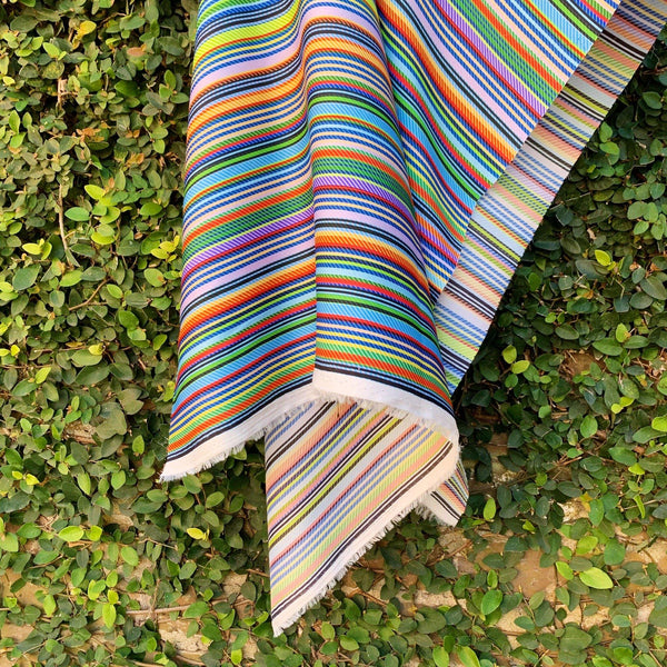 Satin Twill Variegated Stripe Print - 1/2 Yard - Measure: a fabric parlor
