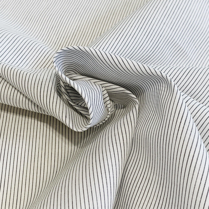 Pinstriped Cotton/Linen Shirting- 1/2 Yard - Measure: a fabric parlor