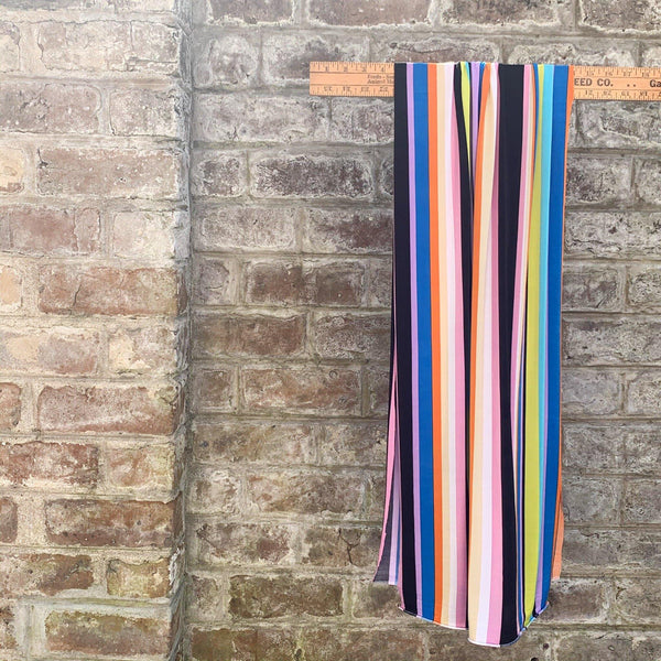 Varigated Stripe Rainbow Jersey - 1/2 Yard