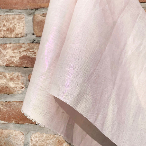 Metallic Pink on Pink Woven Linen- 1/2 Yard - Measure: a fabric parlor