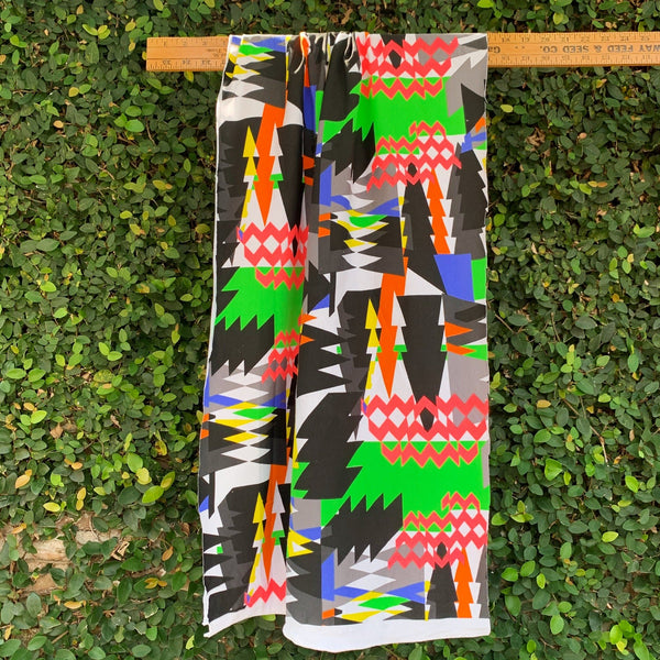 Neon Electric Abstract Printed Cotton Jersey- 1/2 Yard - Measure: a fabric parlor