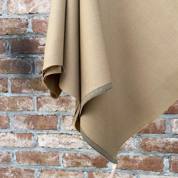 Super 120 Twill Camel Gabardine Wool Suiting - 1/2 Yard - Measure: a fabric parlor