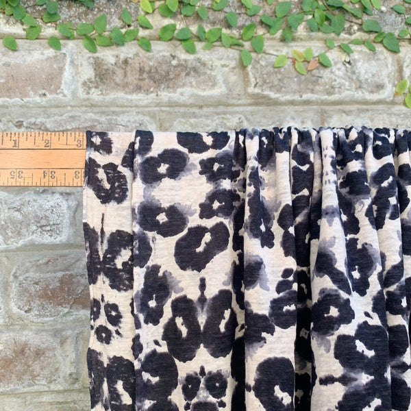 Kaleidoscope Print Linen Jersey Knit - 1/2 Yard - Measure: a fabric parlor