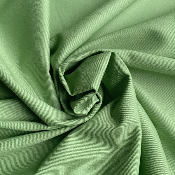 Organic Cotton Twill Sateen- Tomatillo