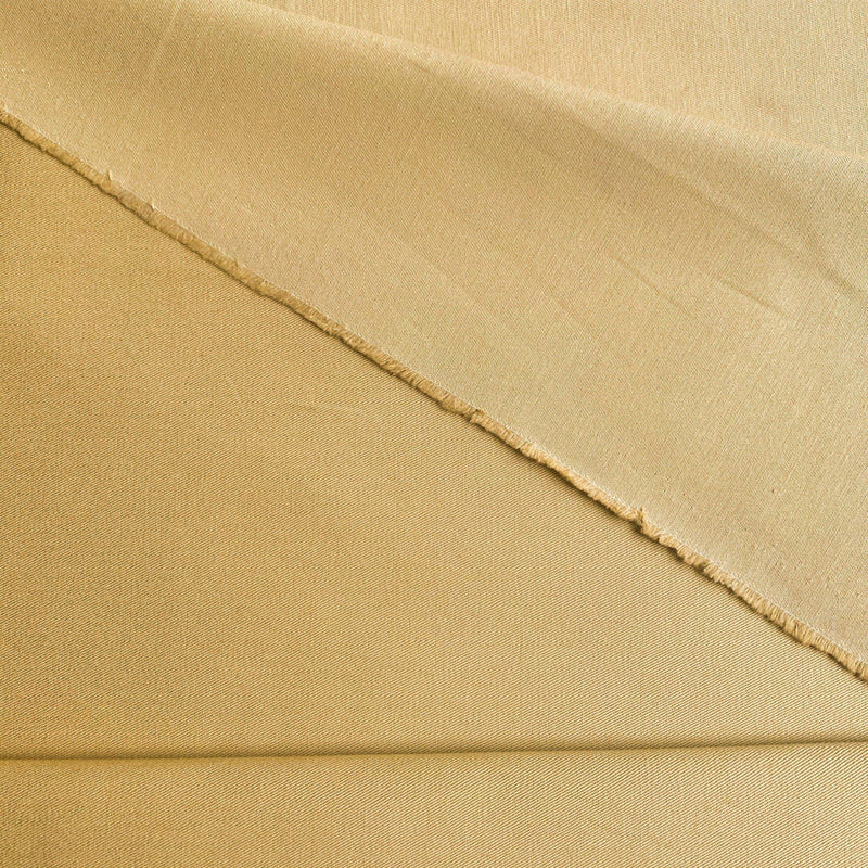 Organic Cotton Twill Sateen - Mustard - Measure: a fabric parlor