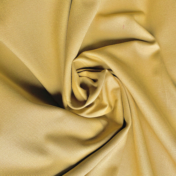 Organic Cotton Twill Sateen - Mustard