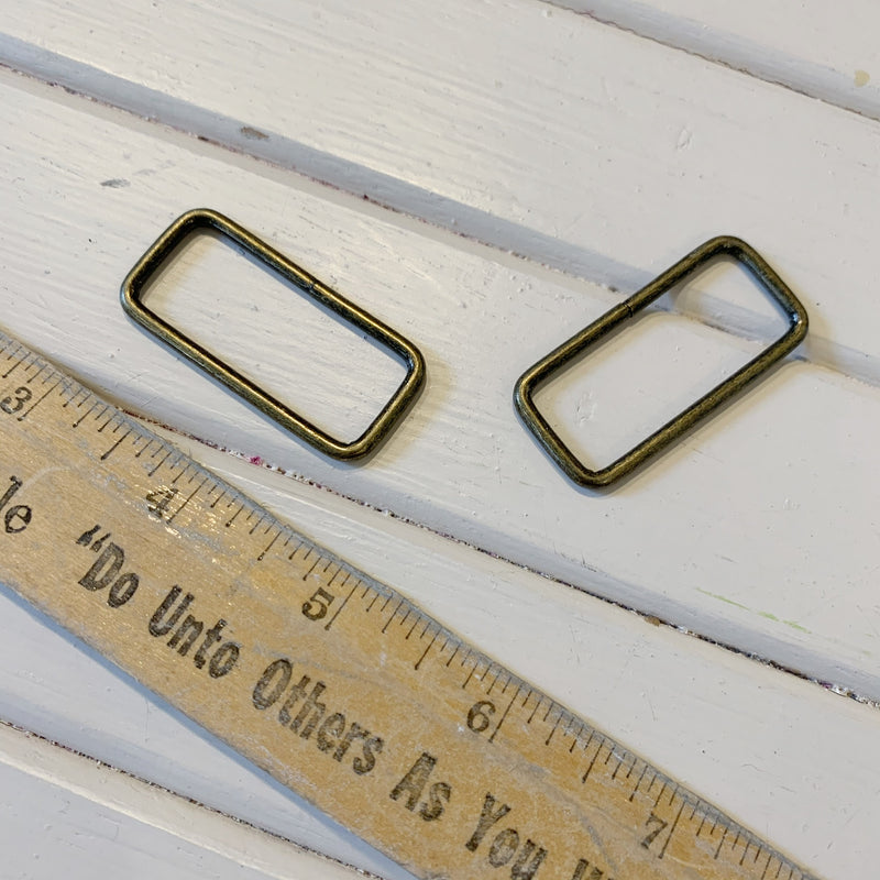 Square Ring - Antique Brass - 38mm - 2 pcs