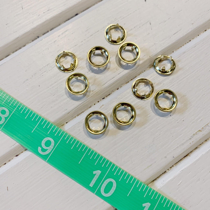 "Pronged Grommet - 5/16"" - Gold - 10 pcs"