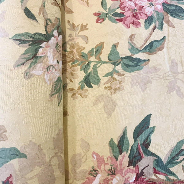 Country Floral Canvas - 1/2 yard