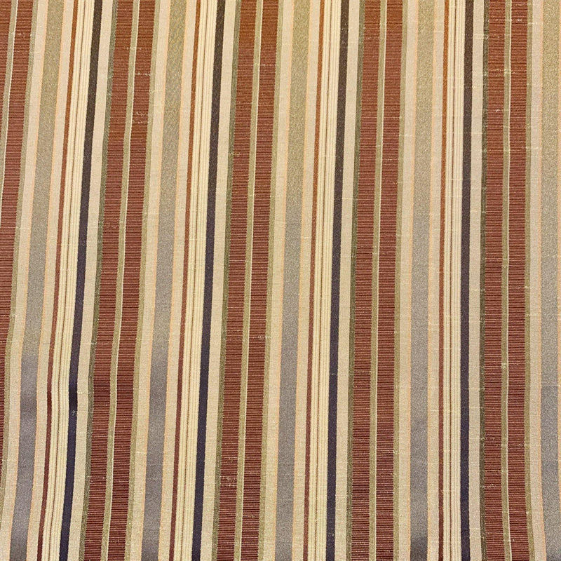 In/Outdoor Satin Multi Stripe - Remnant - 2.75 Yards