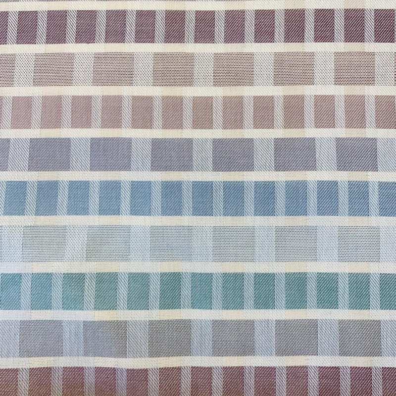 Pastel Woven Grid Stripes - 1 Yard