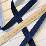 "Cotton Webbing - 1"" - Navy - 1 yard"
