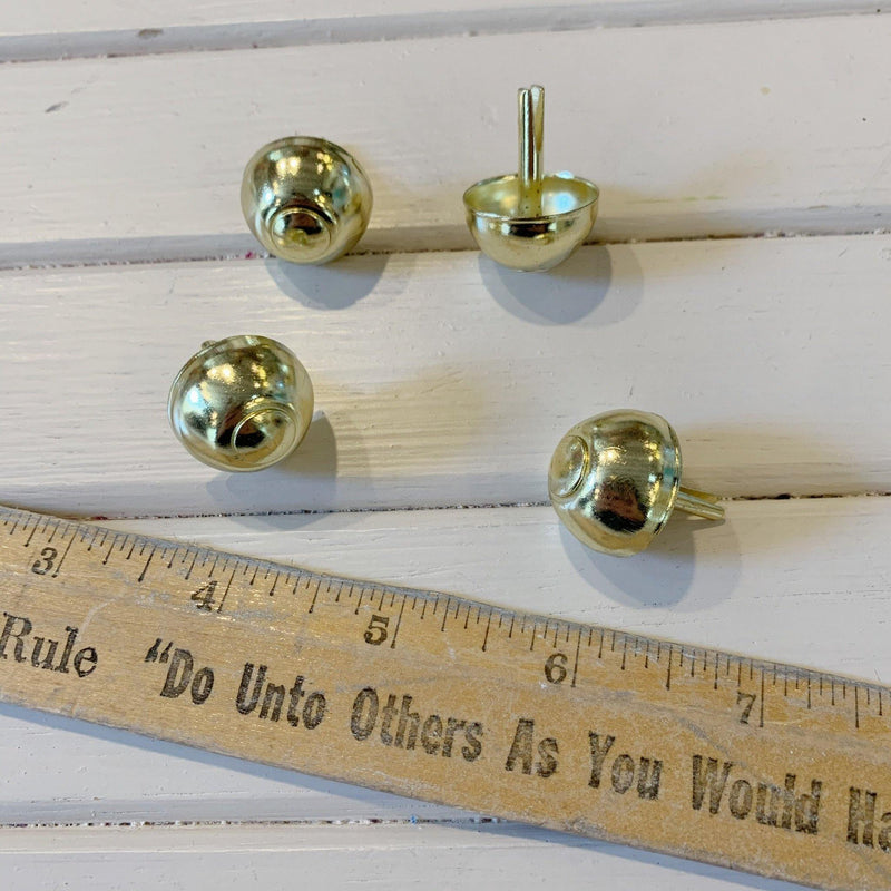 "Purse Dome Feet - 5/8"" - Gold - 4 Purse Feet"